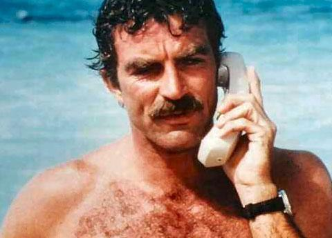Tom Selleck and AT&T assure us: You will send a fax from the beach