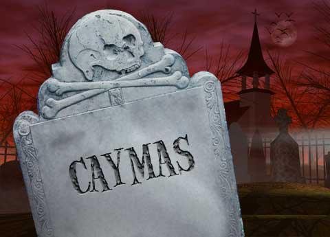 Caymas tombstone