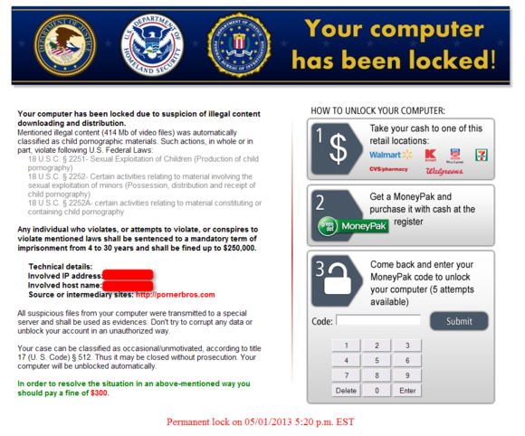 Kovter ransomware leverages the browser's history