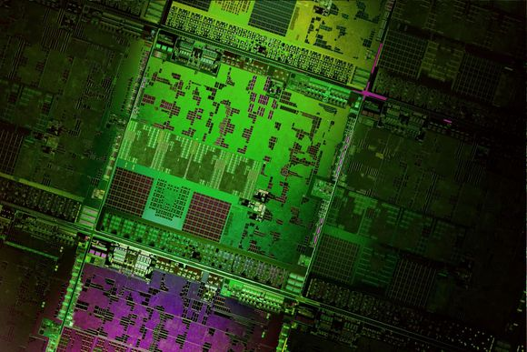 Wafer for AMD's Opteron X2150 and X1150 chips codenamed Kyoto