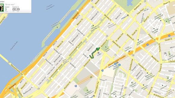 Glympse map