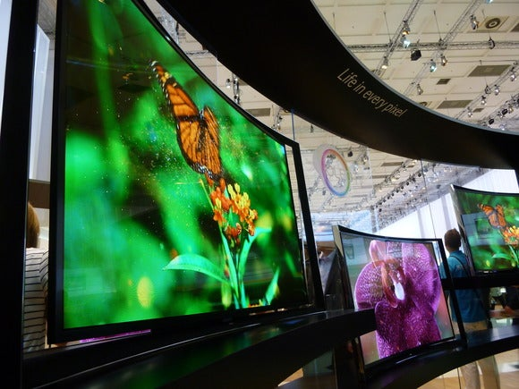 Samsung curved 4K TV at IFA