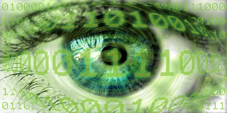 spying eye cyberespionage surveillance