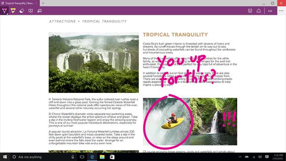 Microsoft Edge annotations