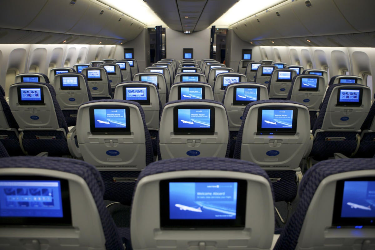 United Airlines airplane cabin
