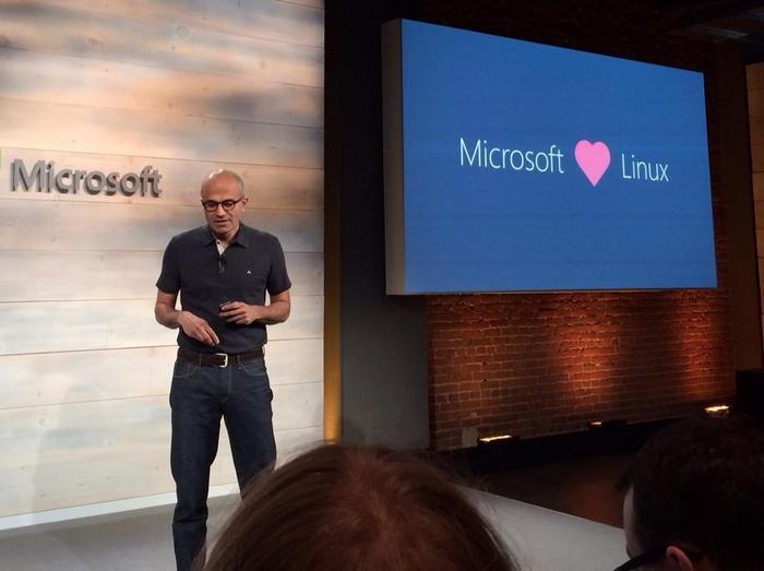 Microsoft Satya Nadella Linux