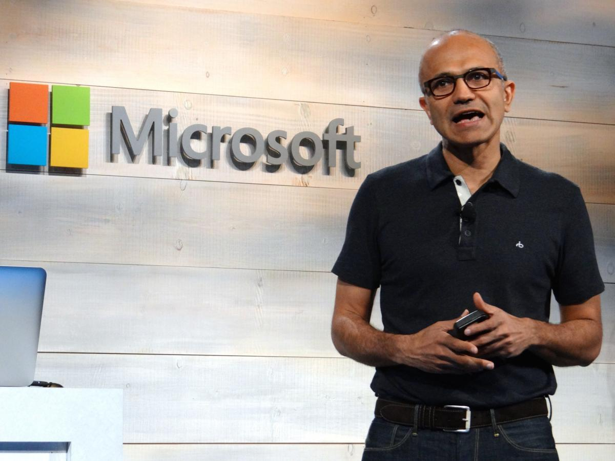 Nadella at Azure