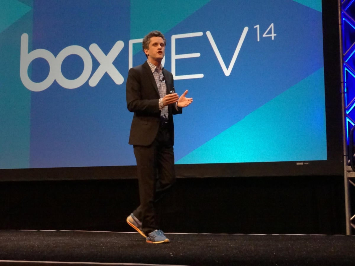 Aaron Levie walking