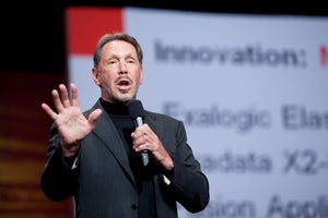Larry Ellison speaks at Oracle's OpenWorld conference